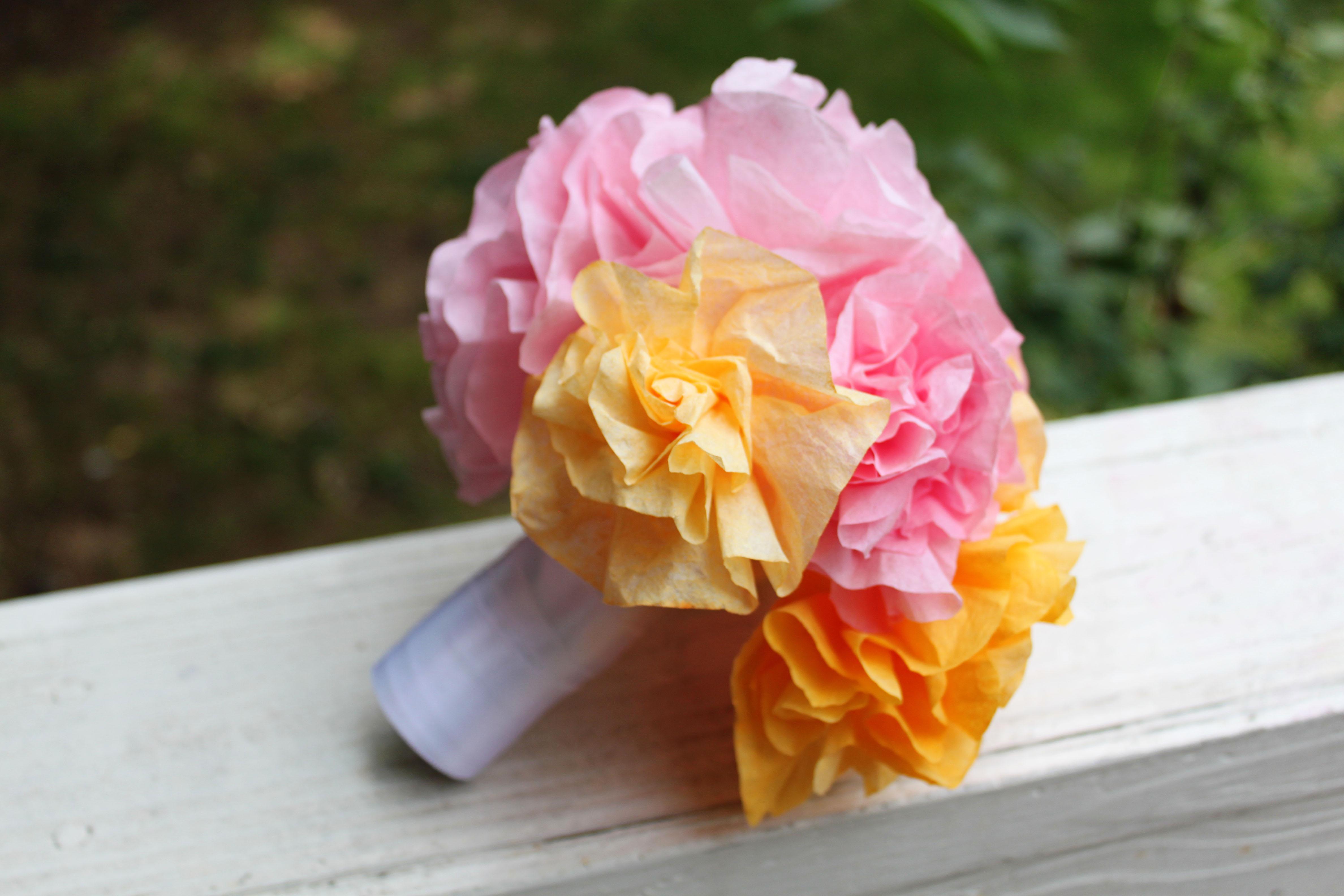 Coffee Filter Bouquet | Laurenmakes\'s Weblog